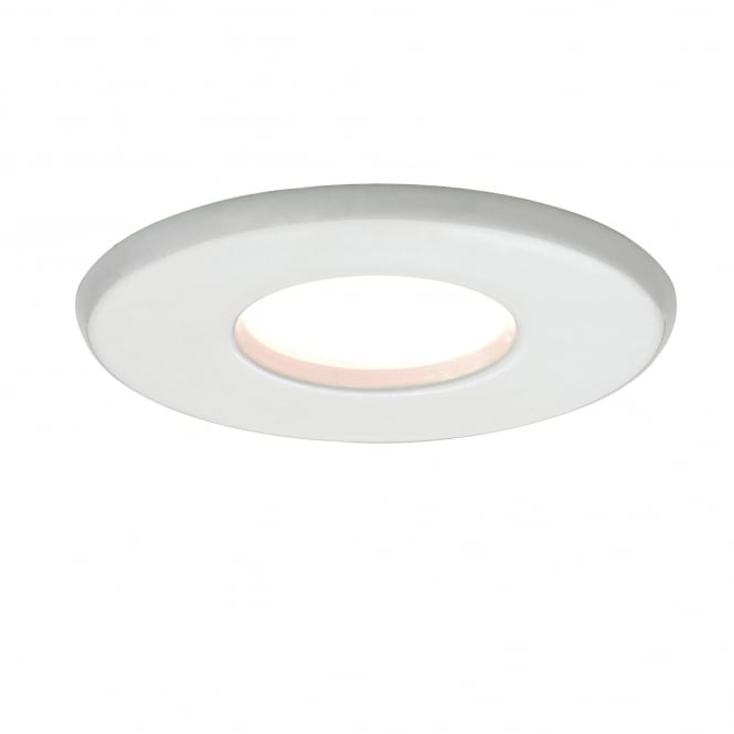 Imperial Hotel Lighting KAMO IP65 white recessed bathroom downlight - mains voltage
