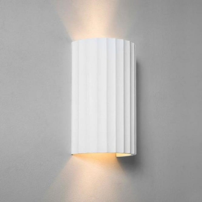 Cylindrical ceramic paintable wall washer light with ribbed detailing kymi paintable ceramic wall washer wall light small aloadofball Gallery