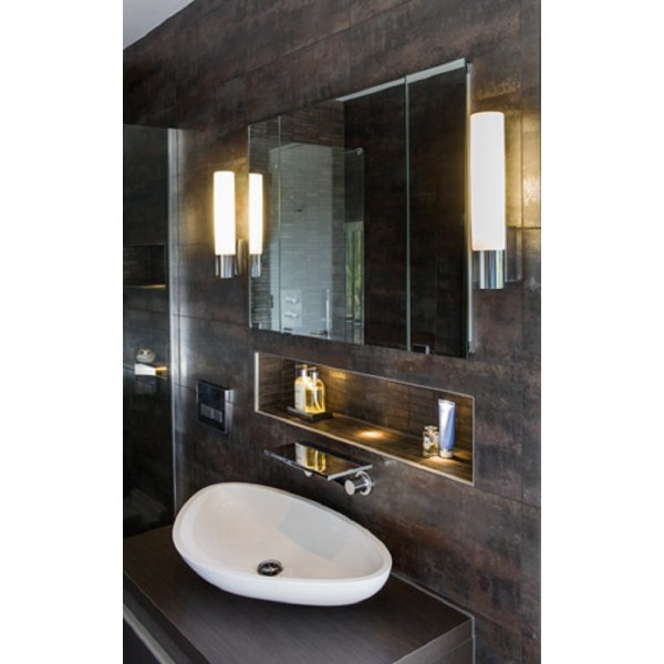 Large Bathroom Wall Sconces : Large IP44 Tube Shaped Bathroom Wall Light Ideal for Use by Mirror