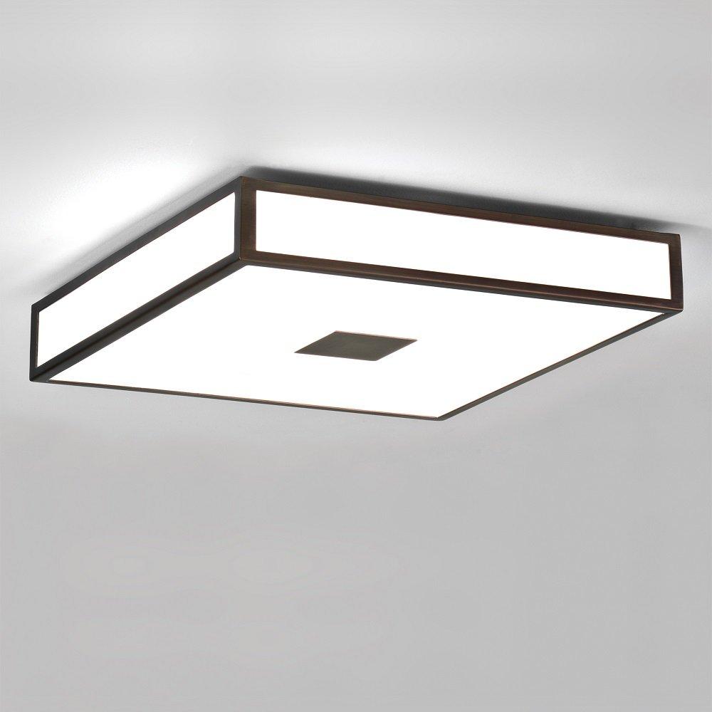 Bronze Flush Fitting Bathroom Ceiling Light, Double ...