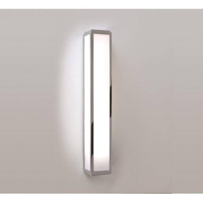 mashiko bathroom light bathroom wall light flush fitting low energy with chrome 13596