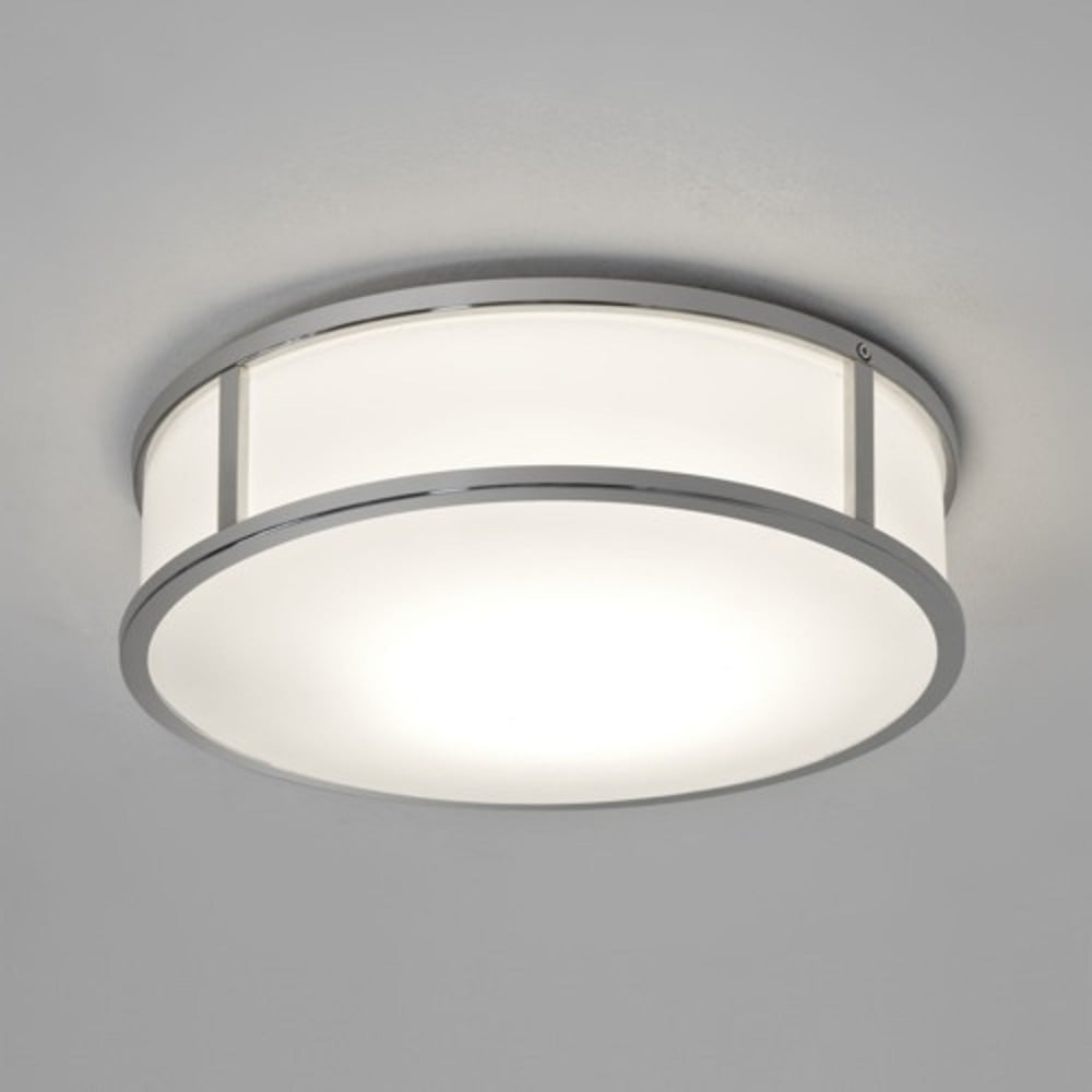 Circular flush fit bathroom ceiling light with chrome surround mashiko ip44 circular led bathroom wall light chrome medium aloadofball Images