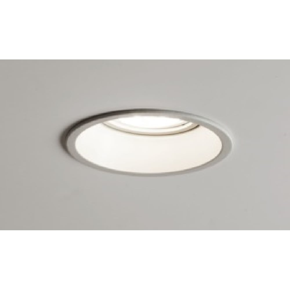 Circular recessed downlight for use with low energy spotlight bulb minima white circular recessed downlight or spotlight aloadofball Images