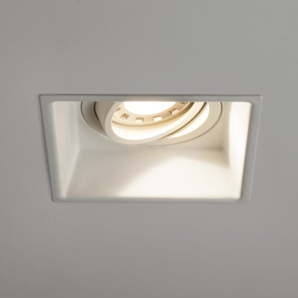 Best Rated Led Shop Lights: White Angled Recessed Ceiling Downlight With Square Surround
