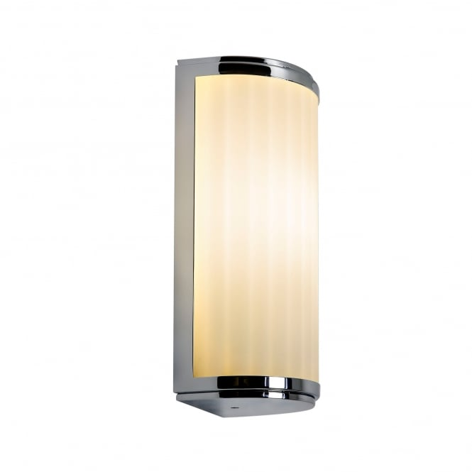 Imperial Hotel Lighting MONZA Art Deco style IP44 bathroom wall light, small with chrome trim