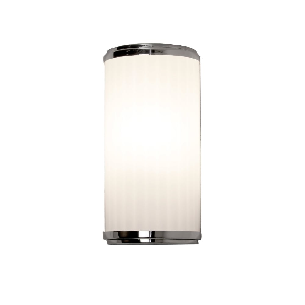 Bathroom Art Deco Lighting: Deco Style LED Bathroom Wall Light With Curved Glass And