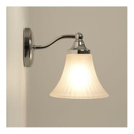 NENA IP44 traditional period style bathroom wall light - chrome