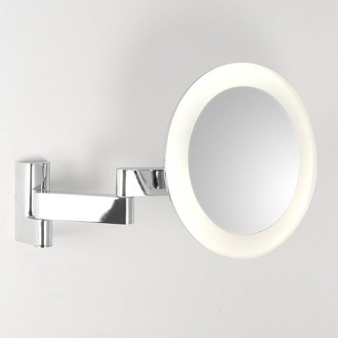 Bathroom Vanity Mirror With LED Light Adjustable 5 X Magnification