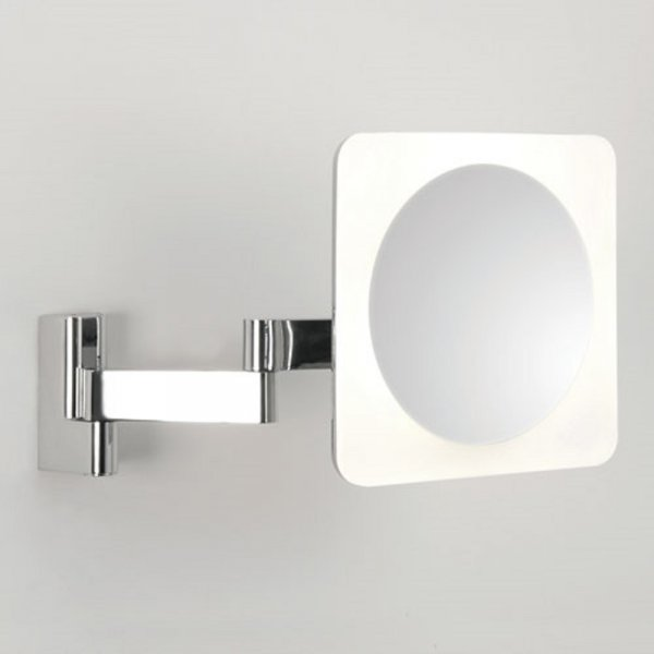 Bathroom vanity mirror with led light adjustable 5 x for Miroir grossissant lumineux mural