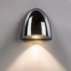 ORPHEUS chrome recessed LED bathroom wall washer light, IP65