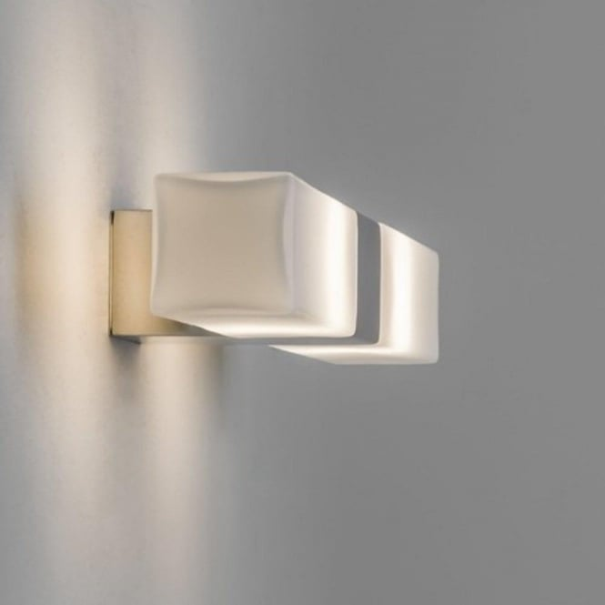 Bathroom Lights Ip44 square opal glass over bathroom mirror light, ip44 and double