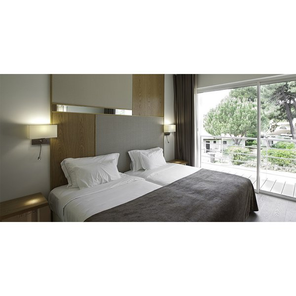 Bronze Wall Light with White Fabric Shade and LED Reading ...