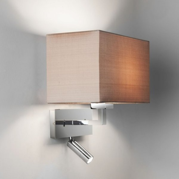 Contemporary design hotel style wall light integral led for Wall light with reading light