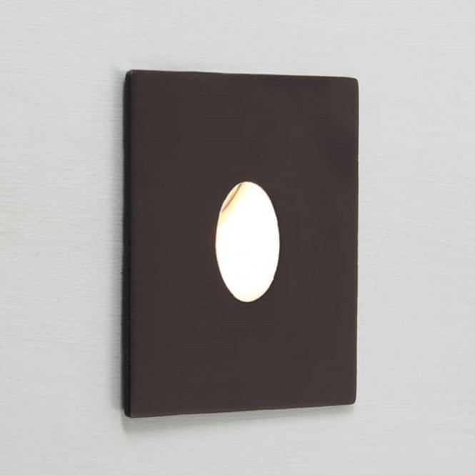 Black Finish Bathroom Lighting: Small Black Recessed LED Wall Light For Indoor Lighting