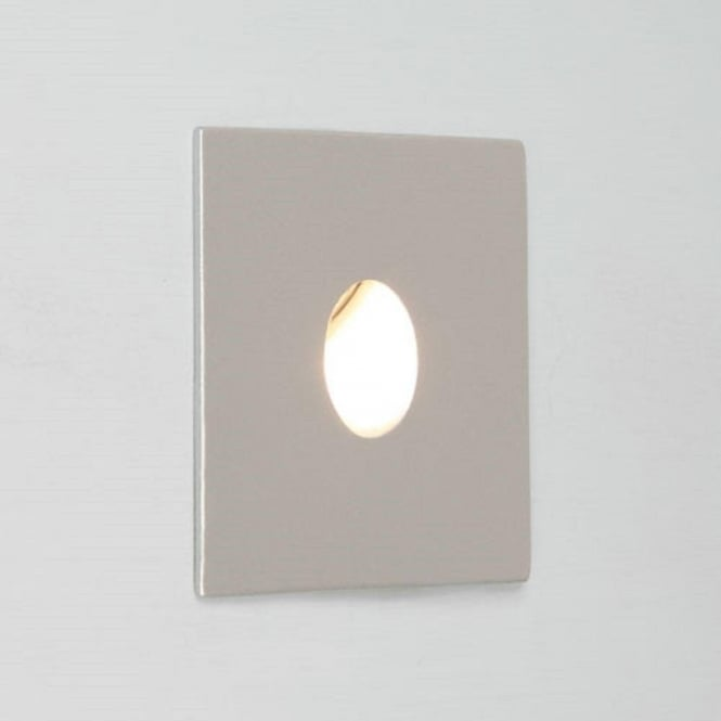 Silver Crystal Wall Lights : Square Silver Recessed Wall Light, IP65 for Bathrooms, Low Energy LED