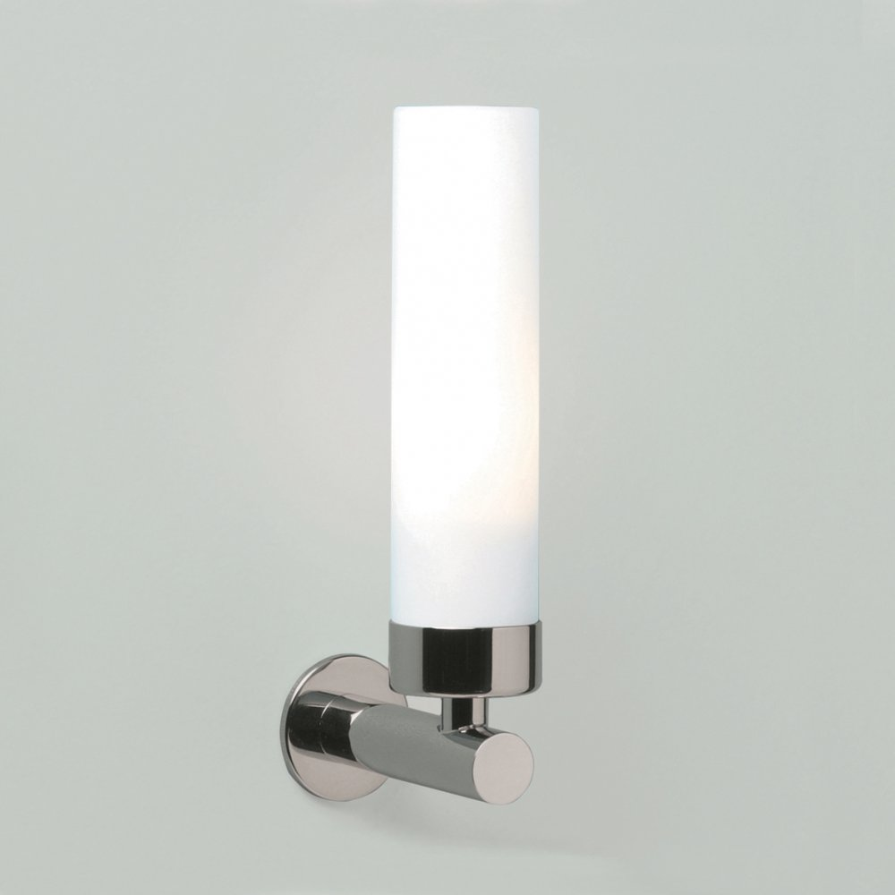Double Insulated Bedroom Wall Lights : Modern Double Insulated Tubular White Opal Glass Bathroom Wall Light