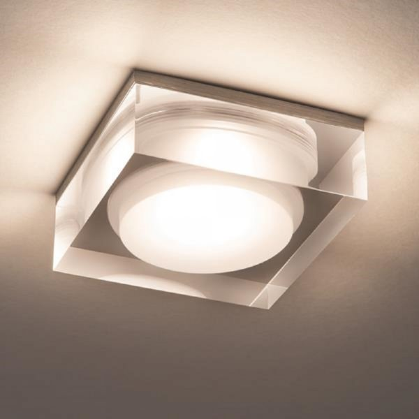 LED Recessed Bathroom Downlight With Attractive Glass Surround