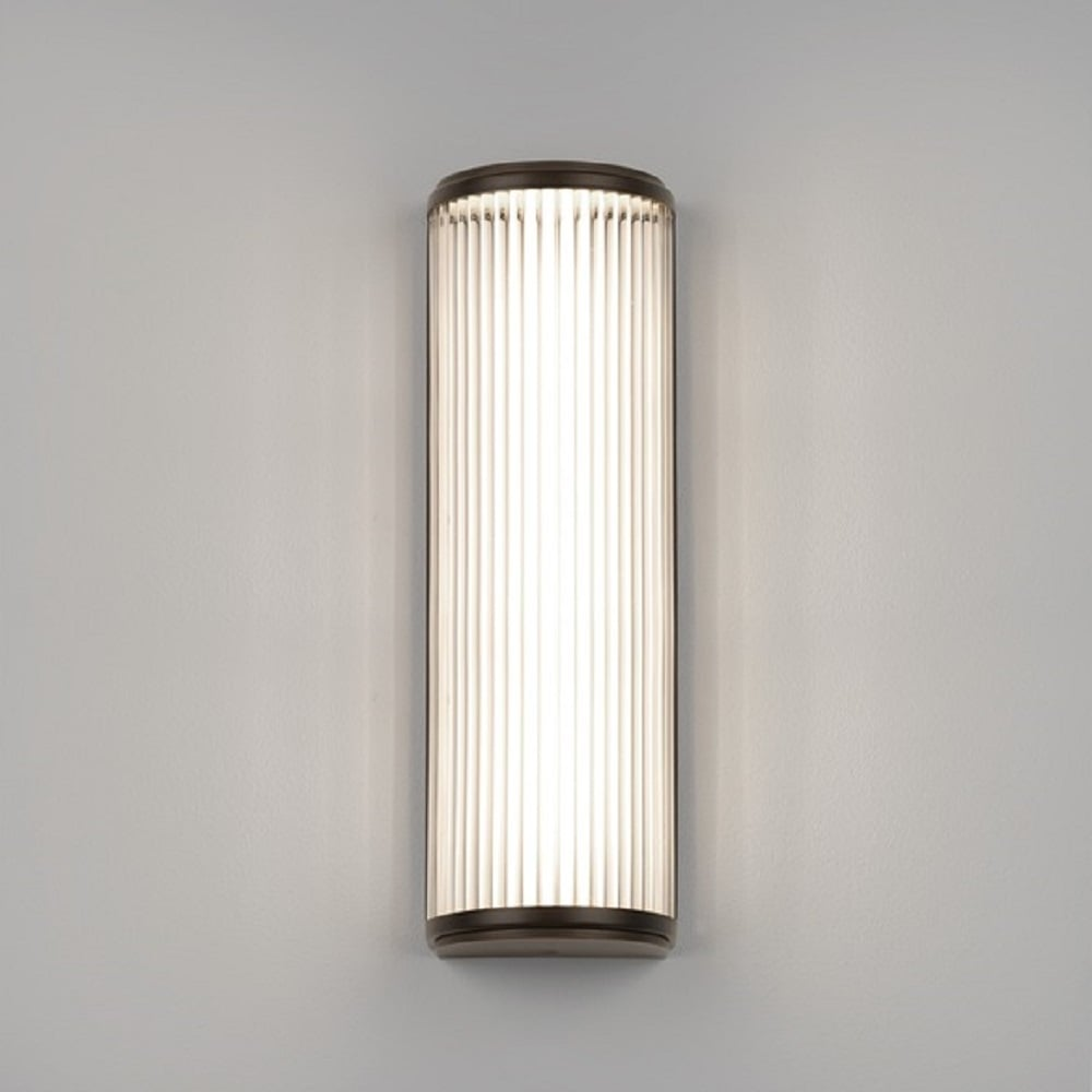 Bathroom Lights Art Deco: Deco Style Bathroom Wall Light With Glass Rods And Bronze