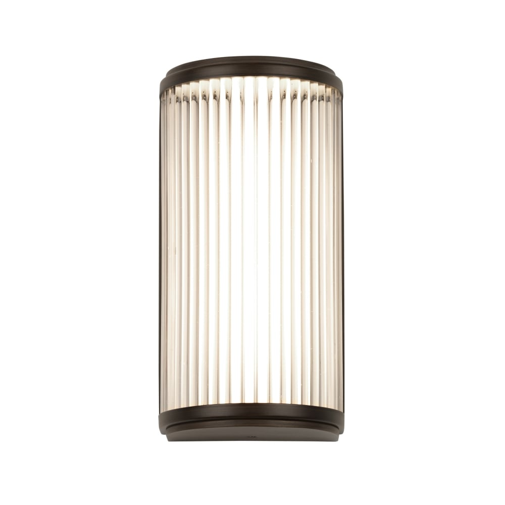 Bathroom Wall Light in Deco Styling with Glass Rods and Bronze Detail