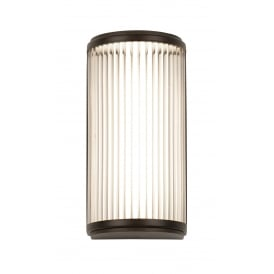 VERSAILLES Deco style LED bathroom wall light in bronze with glass rods - small