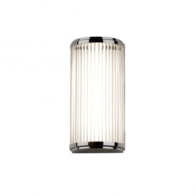 Imperial Hotel Lighting VERSAILLES Deco style LED bathroom wall light in chrome with glass rods - small