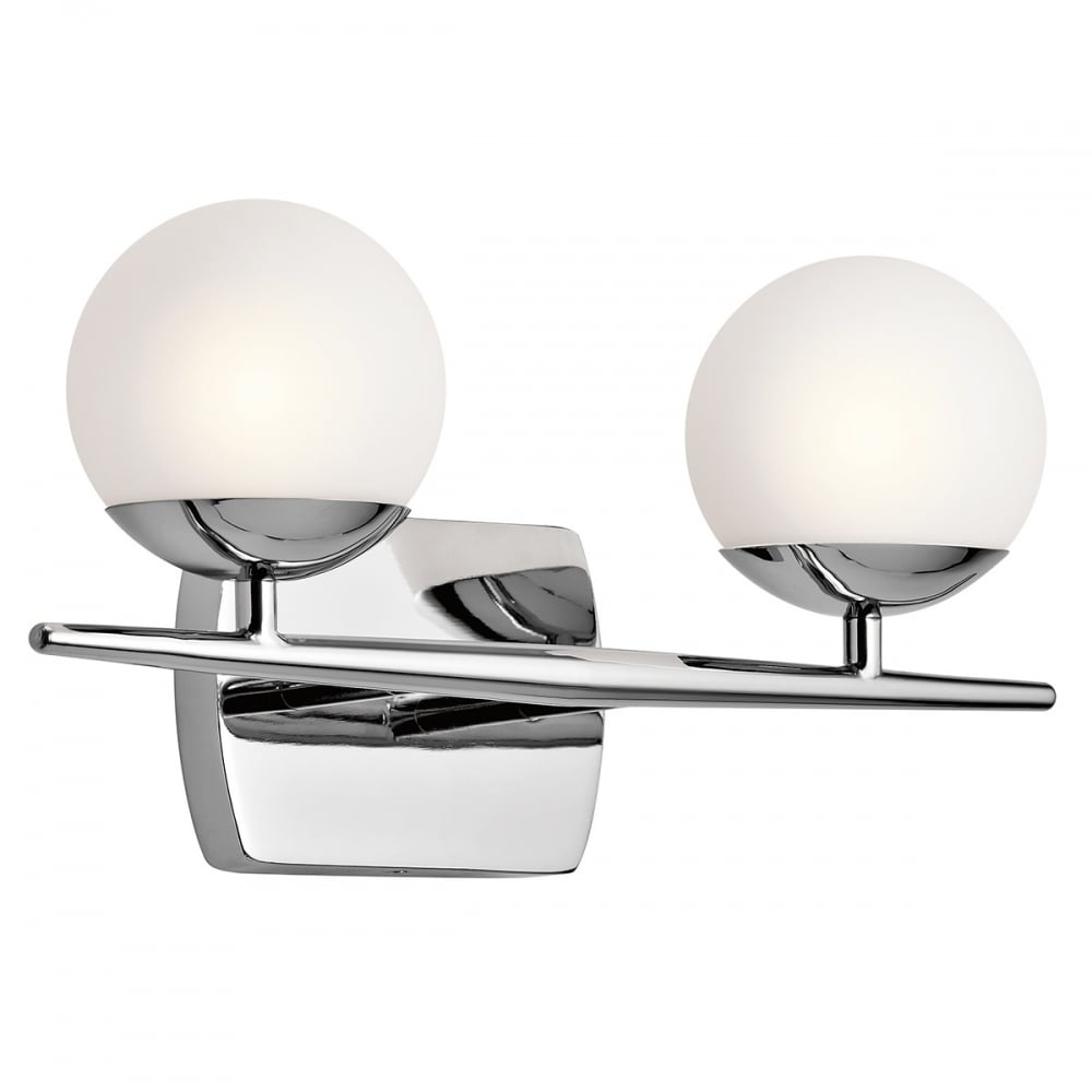 Miraculous Jasper Ip44 Chrome Bathroom Wall Light With 2 Opal Glass Globe Shades Home Interior And Landscaping Fragforummapetitesourisinfo