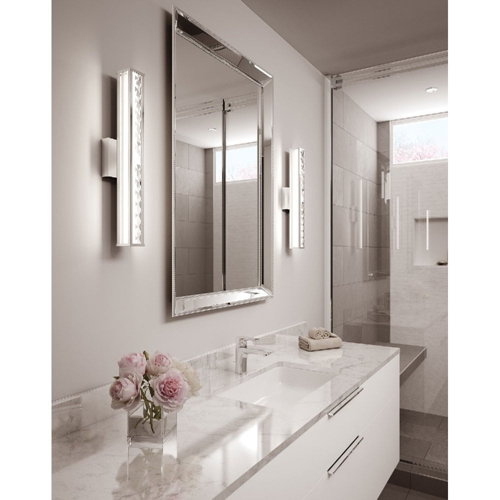 jessie sparkly led bathroom vanity wall light with faceted crystal