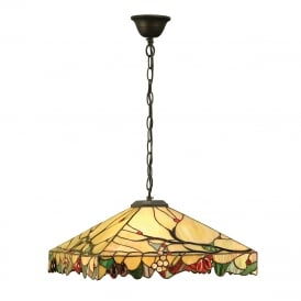 ARBOIS Arts and Crafts style Tiffany ceiling light