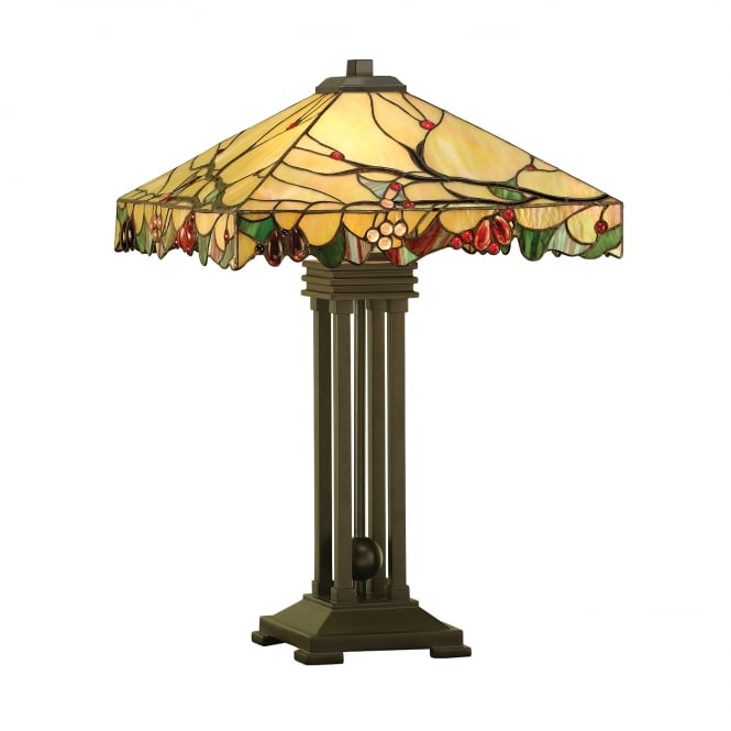 Kensington Tiffany Collection ARBOIS Arts and Crafts style Tiffany table lamp