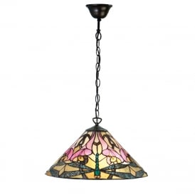 ASHTON Tiffany hanging ceiling pendant light for high ceilings