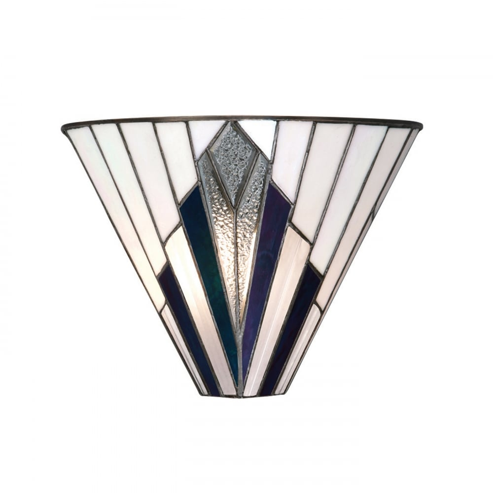 Deco Style Wall Lights : Tiffany Astoria Uplighter Wall Washer Wall Light in Art Deco Style