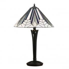 ASTORIA Art Deco table lamp with Tiffany glass shade - medium