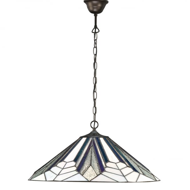 Kensington Tiffany Collection ASTORIA Art Deco Tiffany ceiling pendant light (large)