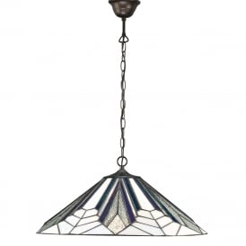 ASTORIA Art Deco Tiffany ceiling pendant light (large)