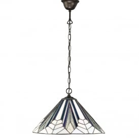 ASTORIA Art Deco Tiffany ceiling pendant light (medium)