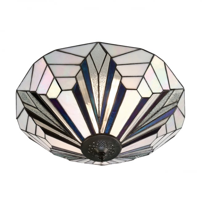 Kensington Tiffany Collection ASTORIA Tiffany Art Deco flush fitting ceiling light