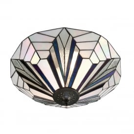 ASTORIA Tiffany Art Deco flush fitting ceiling light