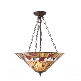 BERNWOOD Tiffany uplighter ceiling pendant