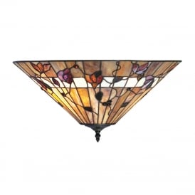 BERNWOOD Tiffany uplighter for low ceilings