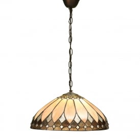 BROOKLYN Tiffany Art Deco ceiling pendant - mediuim