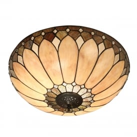 BROOKLYN Tiffany ceiling light for low ceilings