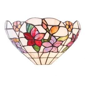 COUNTRY BORDER Tiffany wall washer light with floral art glass shade