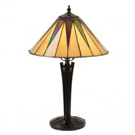 DARK STAR Tiffany Art Deco table lamp - small