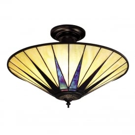 DARK STAR Tiffany Art Deco uplighter for low ceilings