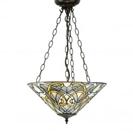 DAUPHINE uplighter Tiffany ceiling pendant in Art Nouveau style