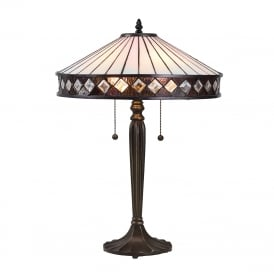 FARGO Art Deco style Tiffany table lamp