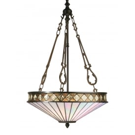 FARGO Art Deco Tiffany uplighter ceiling pendant light