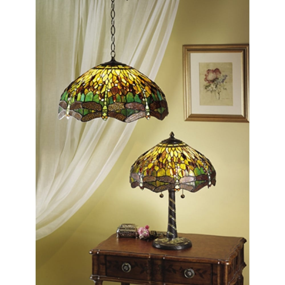 Green dragonfly traditional design large tiffany table lamp bronze base green dragonfly large tiffany table lamp aloadofball Image collections
