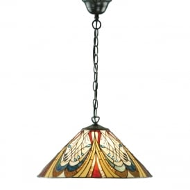 HECTOR Art Nouveau Tiffany ceiling pendant light