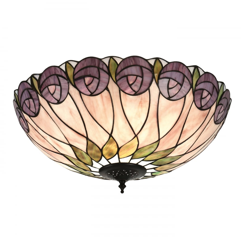 Home shop by era edwardian lighting monaghan lighting monaghan - Hutchinson Art Nouveau Flush Fitting Tiffany Ceiling Light